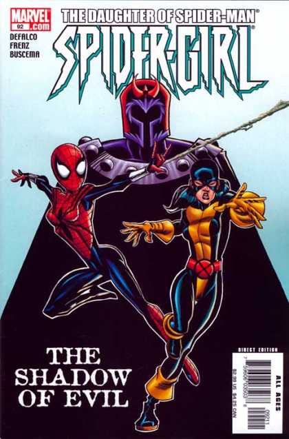 Spider-Girl 92 - Daughter Of Spider Man - Shadow Of Evil - 2 Costumed Girls - Cloaked Enemy - Red Horns