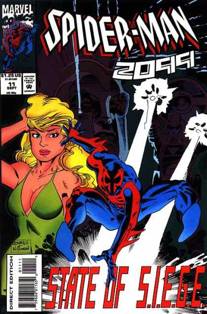 Spider-Man 2099 11 - Green Dress - Superhero - Siege - Costume - Blonde Girl - Al Williamson, Rick Leonardi