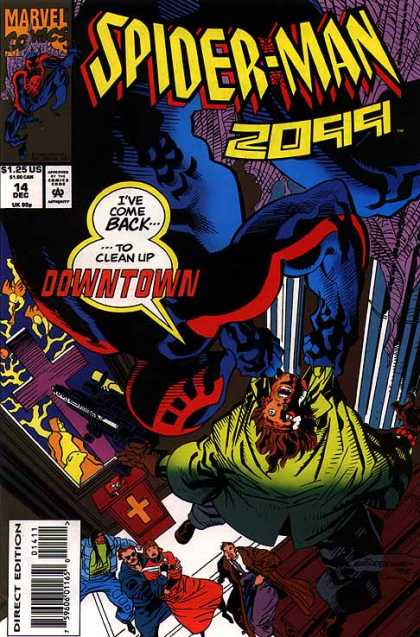 Spider-Man 2099 14 - Downtown - Spider Web - Hanging - Church - Threaten