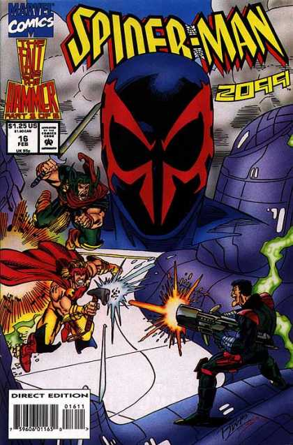 Spider-Man 2099 16 - Marvel Comics - Gun - Superhero - Sword - Direct Edition - Ron Lim, Tom Smith
