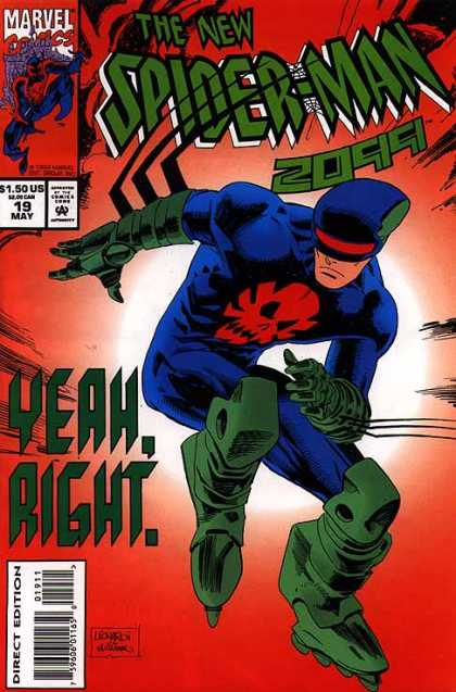 Spider-Man 2099 19 - Marvel Comics - Yeah Right - Roller Blades - Direct Edition - Superhero - Al Williamson, Rick Leonardi
