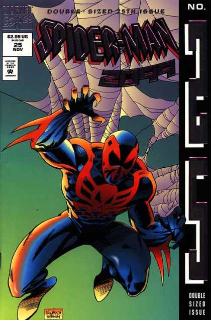 Spider-Man 2099 25 - Spiderweb - Marvel Comics - Claws - 25th Issue - Double Sized - Al Williamson, Rick Leonardi