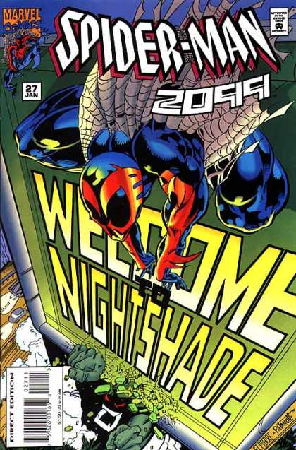 Spider-Man 2099 27 - Spiderweb - Car - Welcome To Nightshade - 27 Jan - Marvel - Jimmy Palmiotti