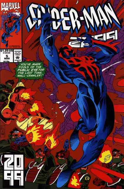 Spider-Man 2099 5 - Marvel - Fools - Fire - Public Eye - Fight - Al Williamson, Rick Leonardi