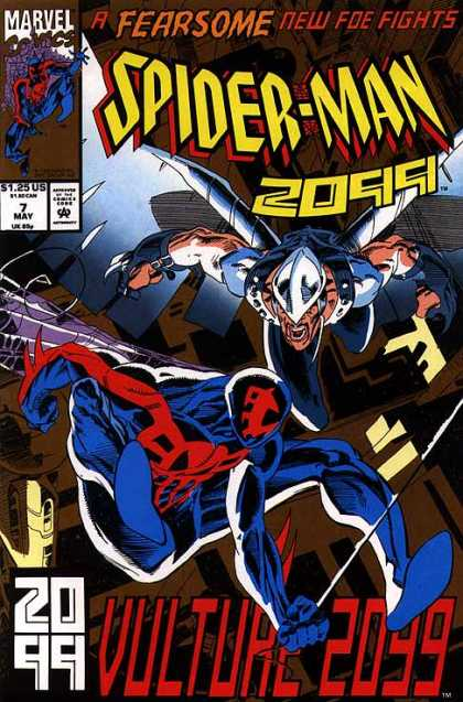 Spider-Man 2099 7 - Marvel Comics - A Fearsome New Foe Fights - Vulture 2099 - Superman - Spider - Al Williamson, Rick Leonardi