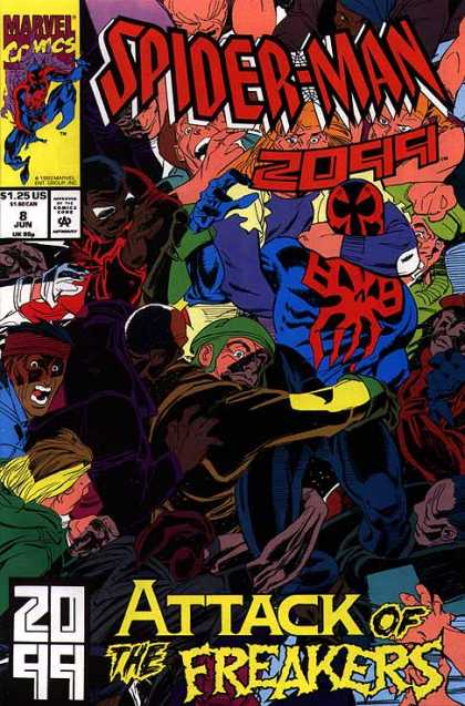 Spider-Man 2099 8 - Mob - Held - Attack Of The Freakers - Neck - Hand - Al Williamson, Rick Leonardi
