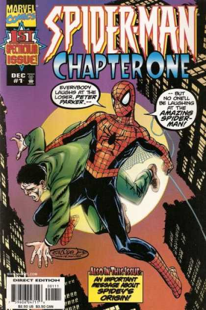 Spider-Man: Chapter One 1 - Spider-man - Chapter One - An Important Message About Spideys Origin - Moon - Green Jacket - John Byrne