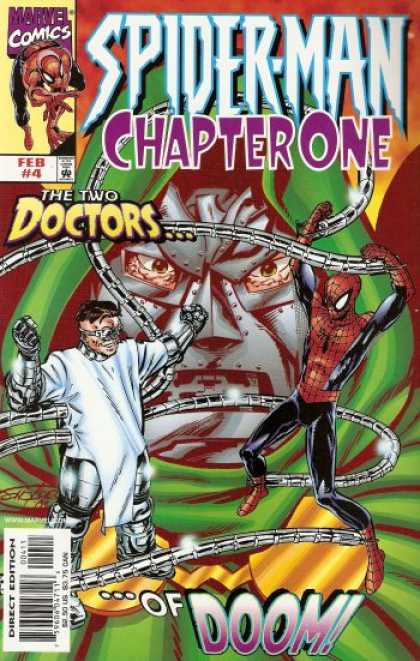 Spider-Man: Chapter One 4 - The Two Doctors Of Doom - Doctor Octopus - Green Goblin - Green Hood - Marvel Comics - John Byrne