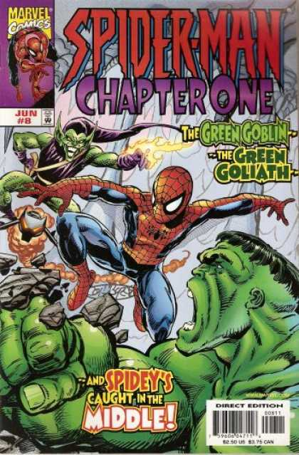 Spider-Man: Chapter One 8 - Green Goblin - Hulk - Green Goliath - Stuck - Caught In Middle - John Byrne