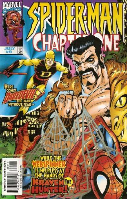Spider-Man: Chapter One 9 - Marvel Comics - Approved By The Comics Code - Daredevil - The Man Without Fear - Kraven The Hunter - John Byrne