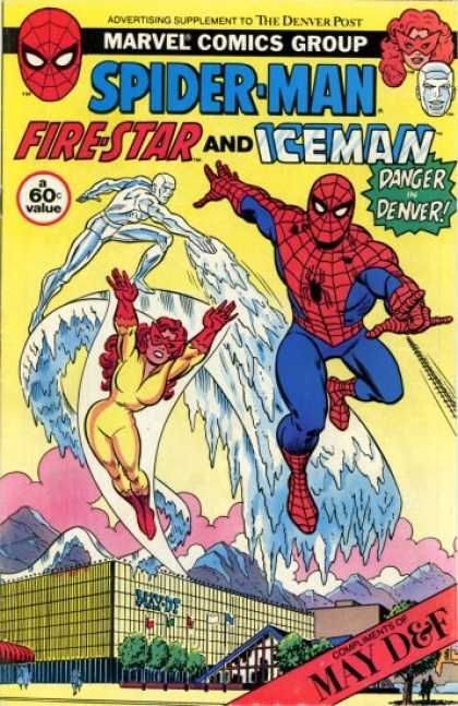 Spider-Man, Firestar & Iceman: Danger in Denver 1 - Marvel Comics Group - May - Mountain - Mask - Tree