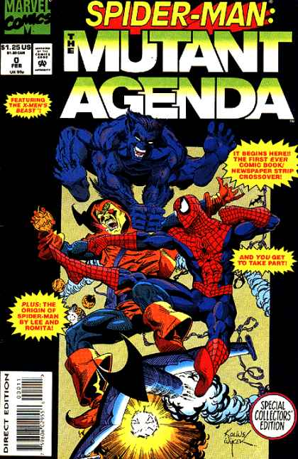 Spider-Man: Mutant Agenda 0 - Marvel Comics - Superhero - Fight - Punch - Creature