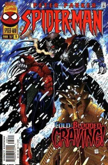 Spider-Man 78 - Peter Parker - Snow - Breath - Cold Blooded Craving - March 97 - John Romita