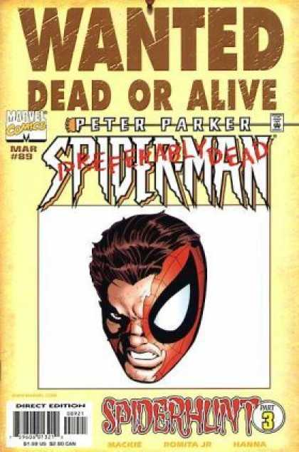 Spider-Man 89 - Dead Or Alive - Peter Parker - Spiderhunt - Preferably Dead - Wanted - John Romita