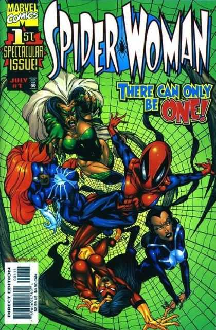 Spider-Woman (1999) 1 - Marvel Comics - 1st Spectacular Issue - July 1 - There Can Only Be One - A - Bart Sears