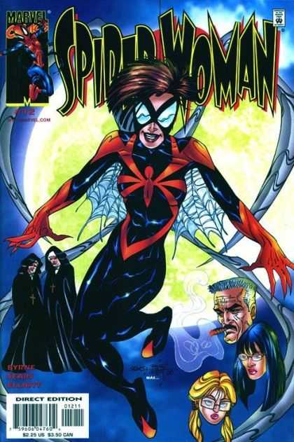 Spider-Woman (1999) 12 - Woman - Webs - Nuns - Direct Edition - Man With Cigar - Bart Sears