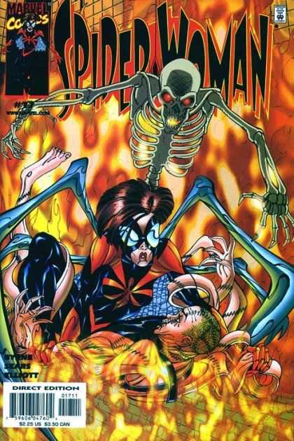 Spider-Woman (1999) 17 - Marvel Comics - Skeleton - Mutant - Fire - Direct Edition - Bart Sears