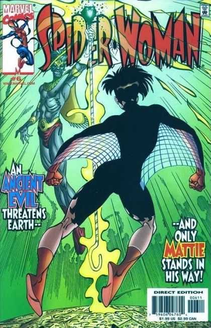 Spider-Woman (1999) 6 - An Ancient Evil Threatens Earth - Only Mattie Stands In His Way - Costume - Superheroe - Mutant - Bart Sears