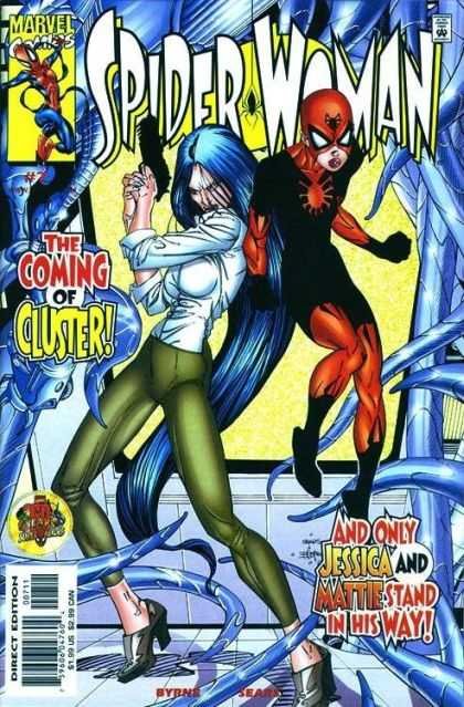 Spider-Woman (1999) 7 - The Coming Of Cluster - Spider Woman - Blue Hair - Jessica - Matty - Bart Sears