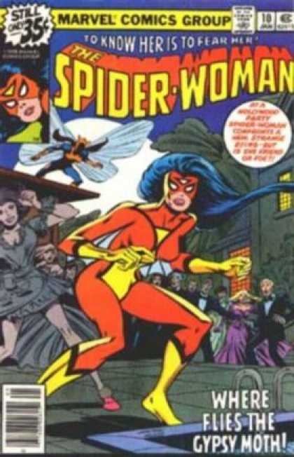 Spider-Woman 10 - Approved By The Comics Code Authority - Marvel Comics Group - Where Flies The Gypsy Moth - 10 Jan - To Know Her Is To Fear Her - Bob McLeod, Carmine Infantino