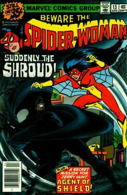 Spider-Woman 13 - Shroud - Spider Web - Telephone - Agent Of Shield - Superhero - Bob McLeod, Carmine Infantino