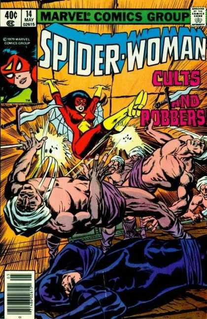 Spider-Woman 14 - Marvel - Web - Cults - Robbers - Kick - Bill Sienkiewicz