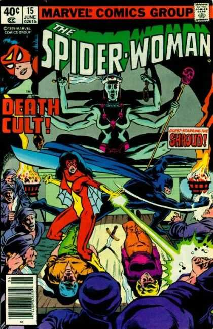 Spider-Woman 15 - June - Death Cult - Superhero - 40 Cents - Bill Sienkiewicz, Bob McLeod
