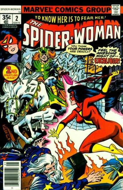 Spider-Woman 2 - Marvel - 35 Cents - Superhero - Horse - Excaliber
