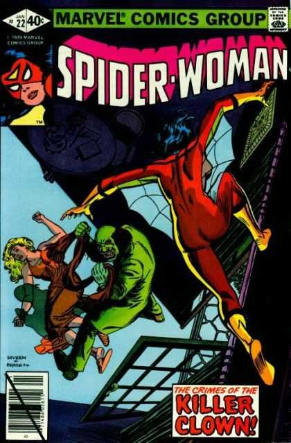 Spider-Woman 22 - Green Mine - Women Falling - Marvel Comics - Super Hero - Fear