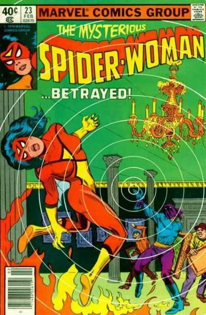 Spider-Woman 23 - Burglars - Chandelier - Fire - Museum - Paintings