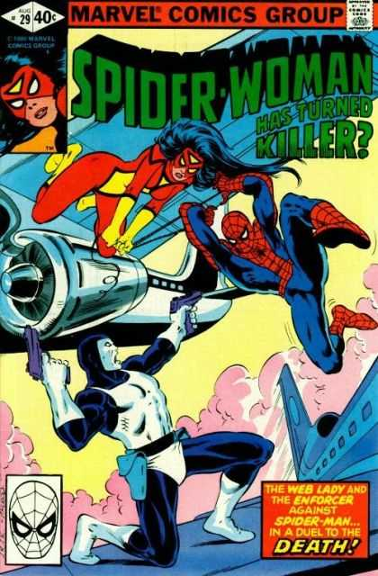 Spider-Woman 29 - Turned Killer - Web Lady - Enforcer - Spider-man - Duel To The Death - Bob McLeod, John Romita