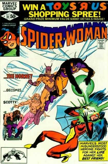 Spider-Woman 31 - Marvel - Shopping Spree - The Hornet Becomes Scott - Attack - Energetic - Frank Miller, Josef Rubinstein