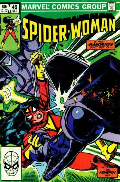 Spider-Woman 46 - Spider Man - Spider Woman - Marvel Comics Group - Mandroids - Kingpin - Steve Leialoha