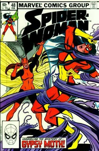 Spider-Woman 48 - 48 Feb - Fighting - Action - Marvel - Gypsy Moth