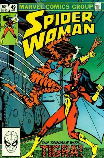 Spider-Woman 49 - Tigra - Ambush - Machine - Leap Attack - The Trouble With Tigra