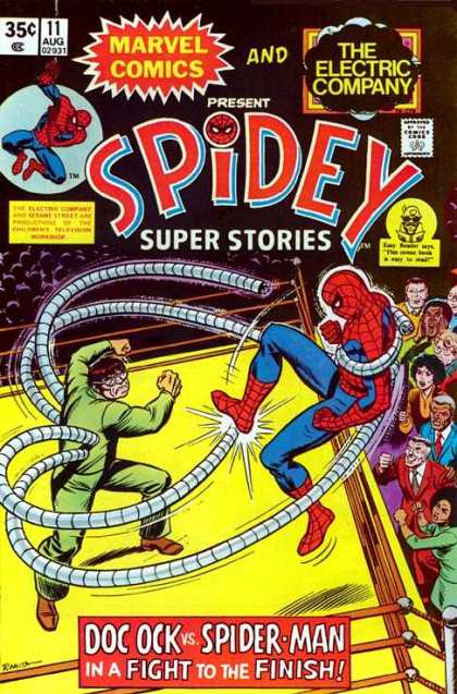 Spidey Super Stories 11 - Bout - Spiderman - Doc Ock - Ring - Crowd