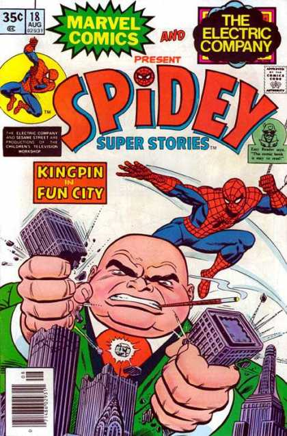 Spidey Super Stories 18 - Spiderman - Fun City - Kingpin - Buildings - Superhero