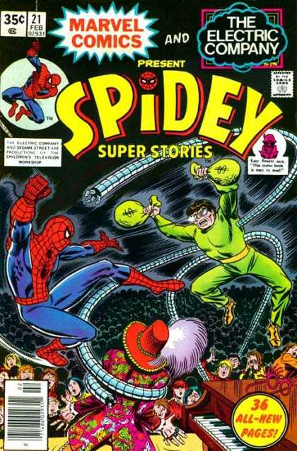 Spidey Super Stories 21 - Dr Octopus - Stage - Piano - The Electric Company - 21 Feb