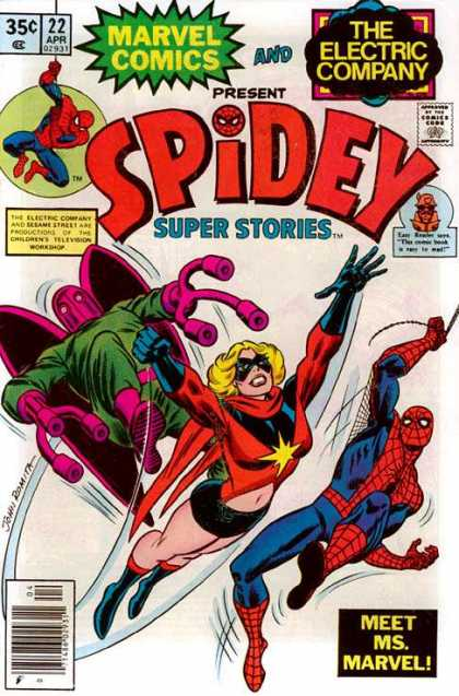 Spidey Super Stories 22 - Dr Octopus - Ms Marvel - Spiderman - Electric Company - Superhero