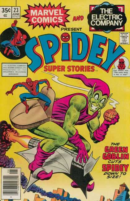 Spidey Super Stories 23 - Spider Man - Green Goblin - Smoke - Fire - Bag