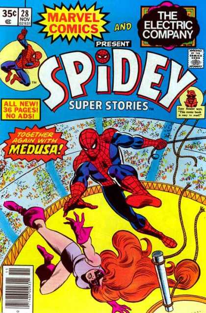 Spidey Super Stories 28 - Spiderman - Circus Girl - Circus - Rope - Rescue