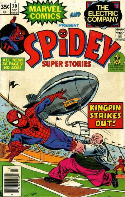 Spidey Super Stories 29 - Marvel Comics - The Electric Company - Approved By Comics Code - All New 36 Pages No Ads - Kingpin Strikes Out