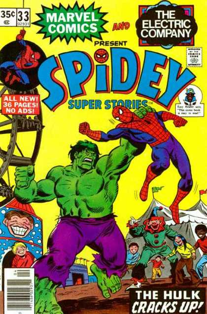 Spidey Super Stories 33 - Marvel Comics - The Electric Company - All New 36 Pages - Hulk - Superhero
