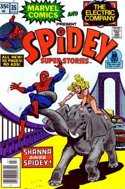 Spidey Super Stories 35 - Elephant - Shanna - Bridge - Circus - Traffic