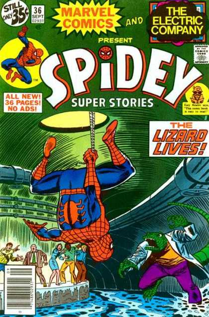 Spidey Super Stories 36 - Spiderman - Lizard - Doctor - Sewer - Regeneration