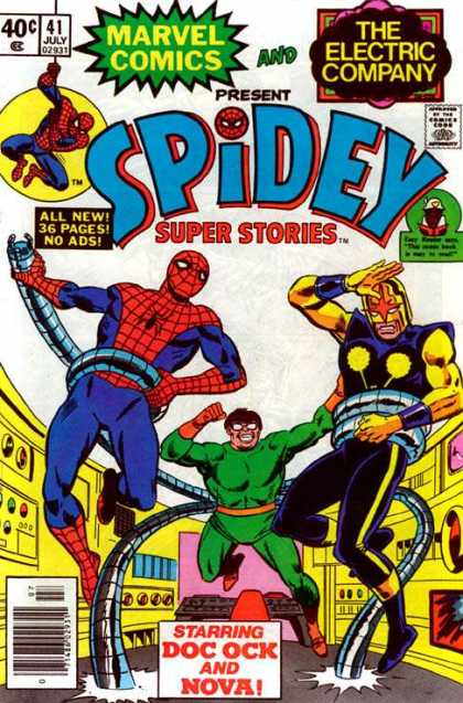 Spidey Super Stories 41 - Marvel - The Electric Company - Comics Code - All New36 Pagesno Ads - Costumes