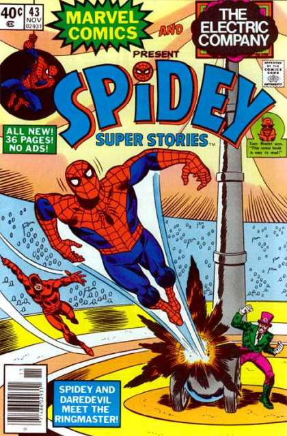 Spidey Super Stories 43 - Marvel Comics And The Electric Company - 43 Nov 02931 - No Ads - Spidey And Daredevil Meet The Ringmaster - Cannon