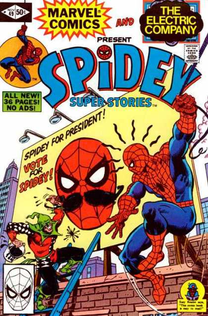 Spidey Super Stories 49 - Marvel Comics - The Electric Company - Superhero - All New - No Ads - Richard Buckler