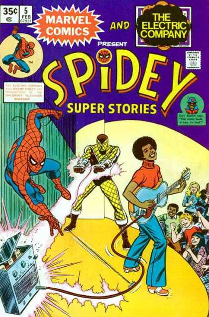 Spidey Super Stories 5 - Marvel Comics - The Electric Company - Guitar - Spider Man - Feb 5