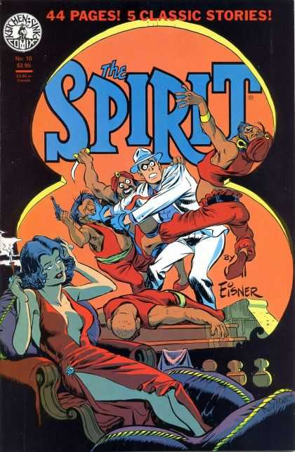 Spirit 10 - Kitchen Sink Comix - Man - Woman - Gun - 44 Pages - Darwyn Cooke, Will Eisner